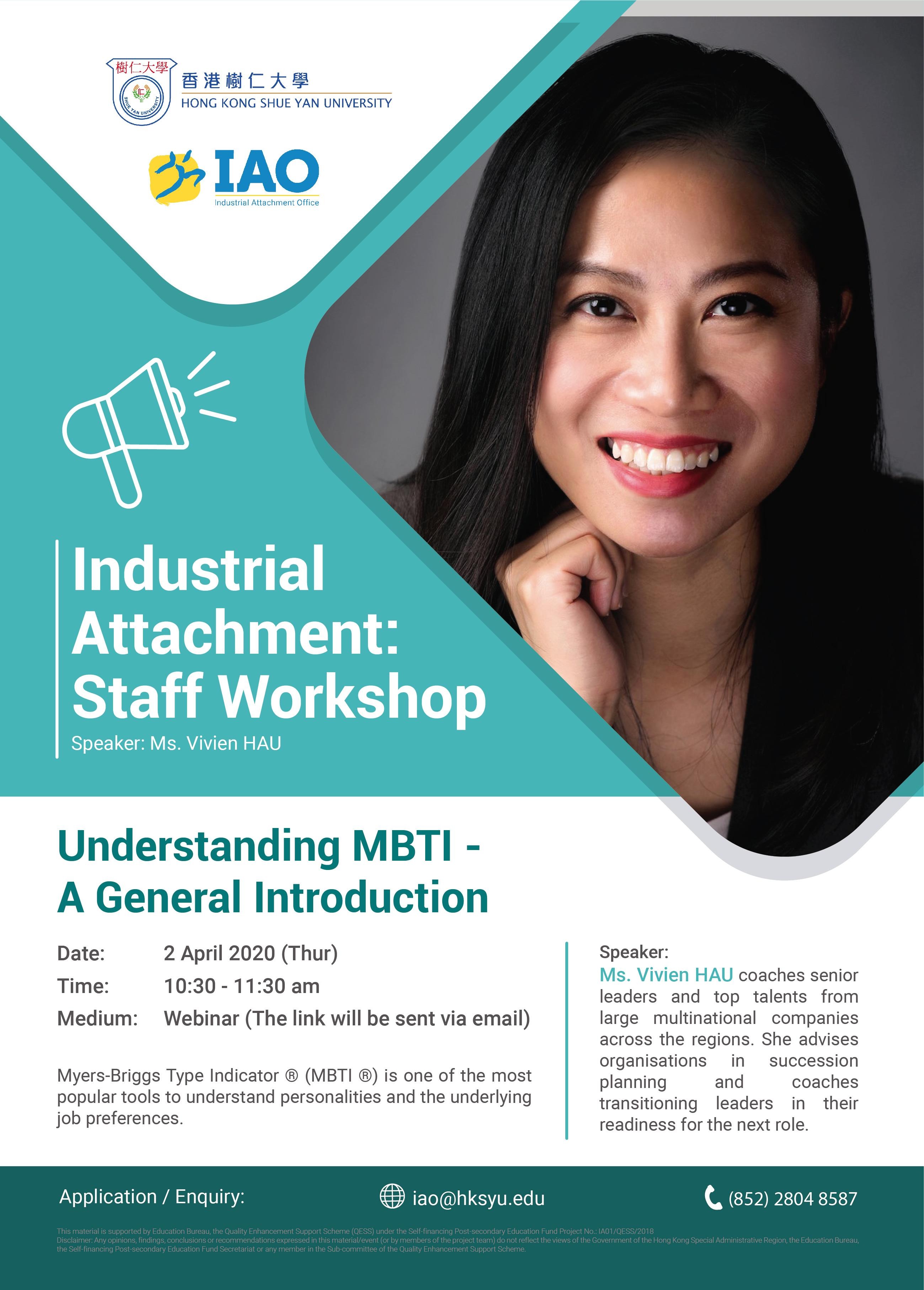 Understanding MBTI - A General Introduction 2 April 2020 (Thursday)