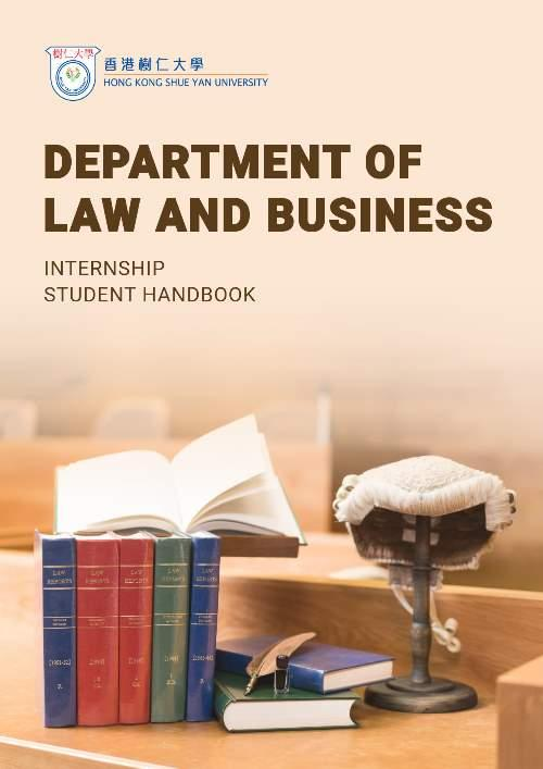 Department of Law and Business - Internship Student Handbook