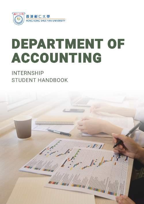 Department of Accounting - Internship student handbook